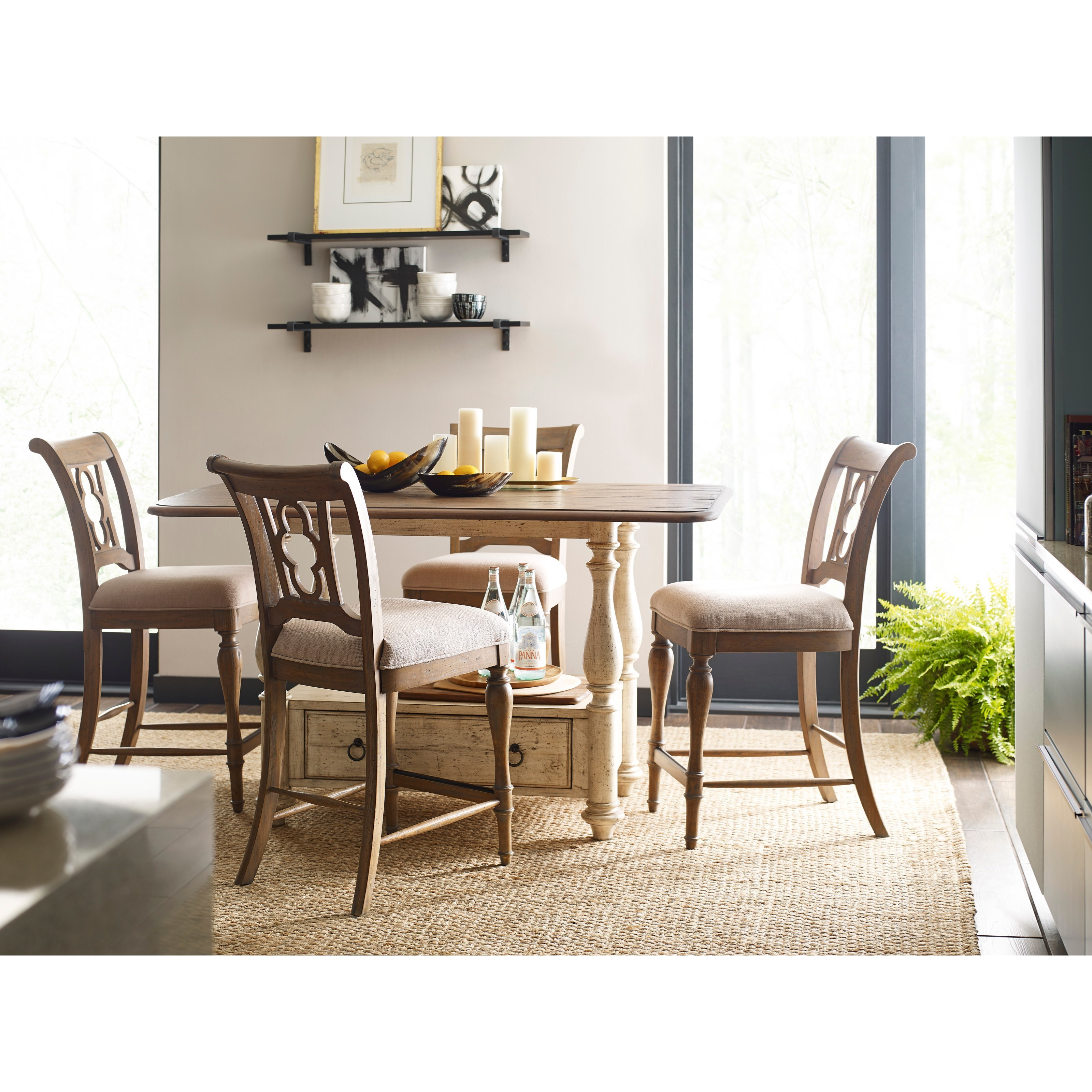 Weatherford 5-Piece Kitchen Island and Chair Set by Kincaid Furniture at Belfort Furniture