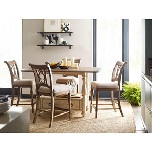 5-Piece Kitchen Island and Chair Set