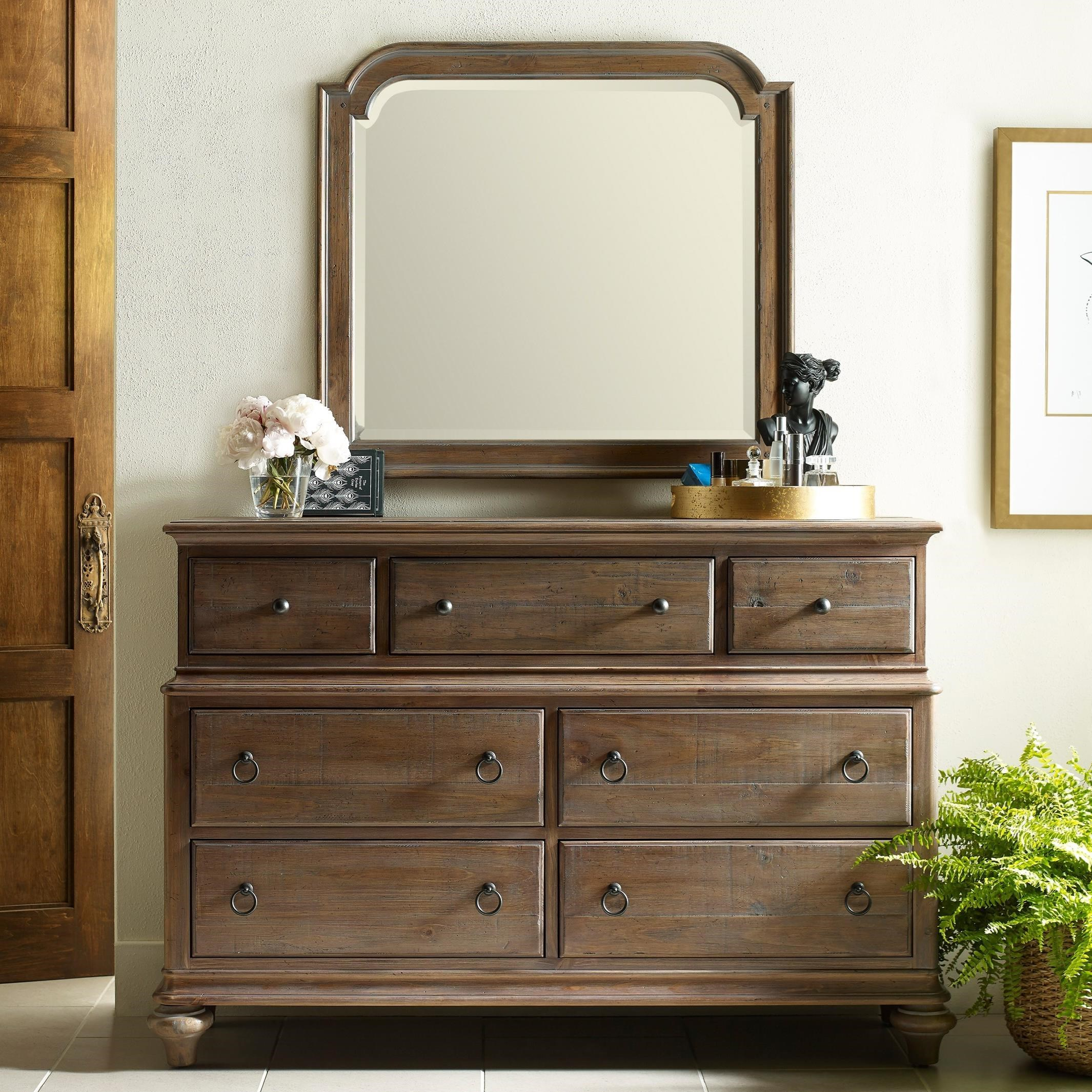 Weatherford Dresser and Mirror Combo by Kincaid Furniture at Home Collections Furniture