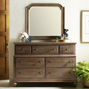 Wellington Dresser and Westland Mirror Combination
