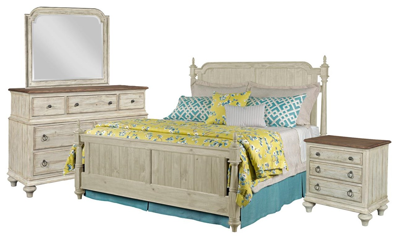 Weatherford Queen Bed, Dresser, Mirror, Nightstand by Kincaid Furniture at Johnny Janosik