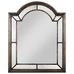Palladian Arched Mirror with Antiqued Glass Detailing and Included Mirror Hangers