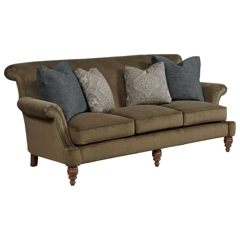 Windsor Sofa w/ 3 Seat Cushions by Kincaid Furniture at Johnny Janosik