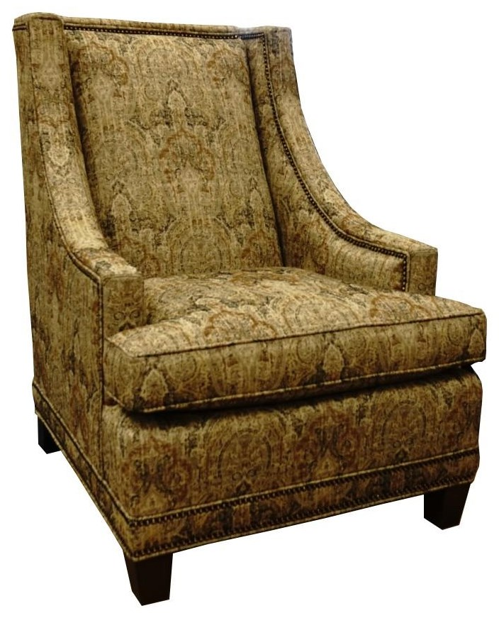 0491 Wing Chair by King Hickory at Godby Home Furnishings
