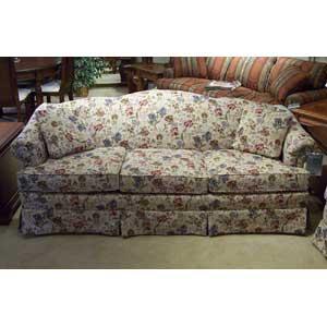 "85"" Firm-Cushion Camel Back Sofa"