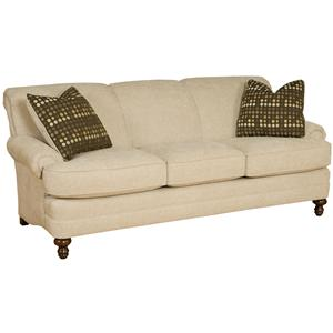 Casual Rolled Arm Stationary Sofa