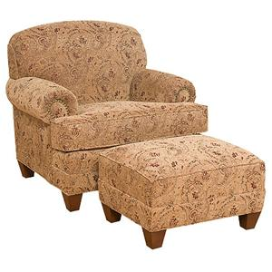 King Hickory Callie Companion Chair with Ottoman
