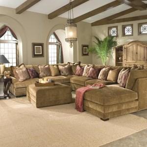 Transitional U Shaped Sectional Sofa