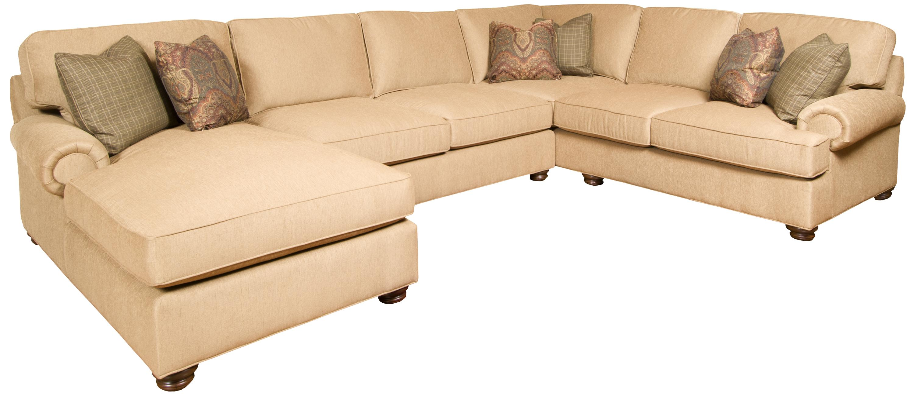 Henson 3- Piece Customizable Sectional by King Hickory at Goods Furniture