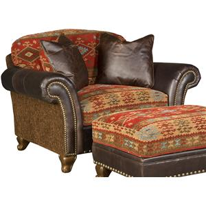 Traditional Chair and a Half with Nailhead Trim