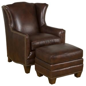 King Hickory Accent Chairs and Ottomans Athens Accent Chair & Ottoman