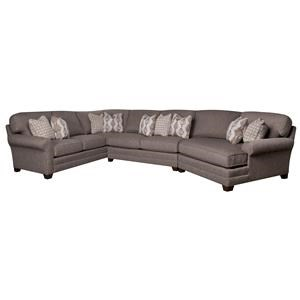 Sectional Sofa with Accent Pillows