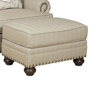 Ottoman with Turned Feet