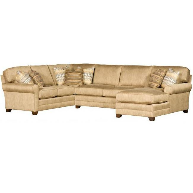 Winston Transitional Sectional by King Hickory at Saugerties Furniture Mart