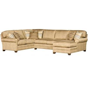 Transitional Sectional with Tapered Block Feet