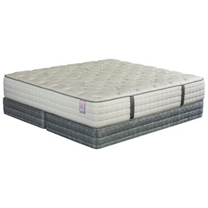 Queen Cushion Firm Mattress and Low Profile Wood Foundation