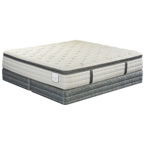 Queen Cushion Firm Euro Top Mattress and Wood Foundation