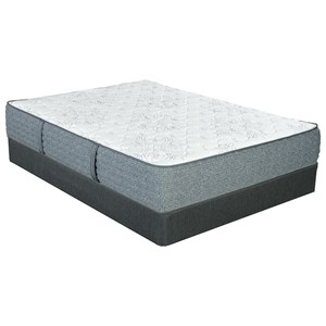 """King 11"""" Extra Firm Pocketed Coil Mattress and Nordic Wood Foundation"""
