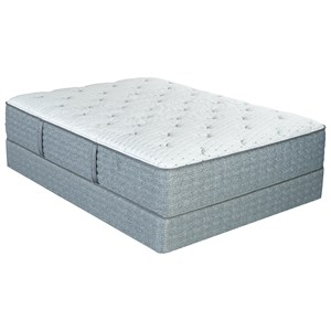"""Full 13"""" Plush Pocketed Coil Mattress and Low Profile Nordic Wood Foundation"""