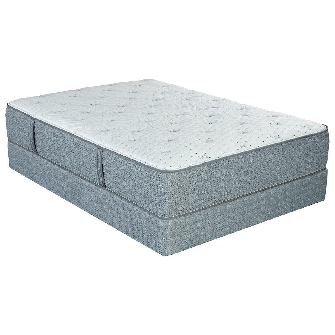 """Laura Ashley Selby CF King 12 1/2"""" Cushion Firm Low Profile Set by King Koil at Nassau Furniture and Mattress"""