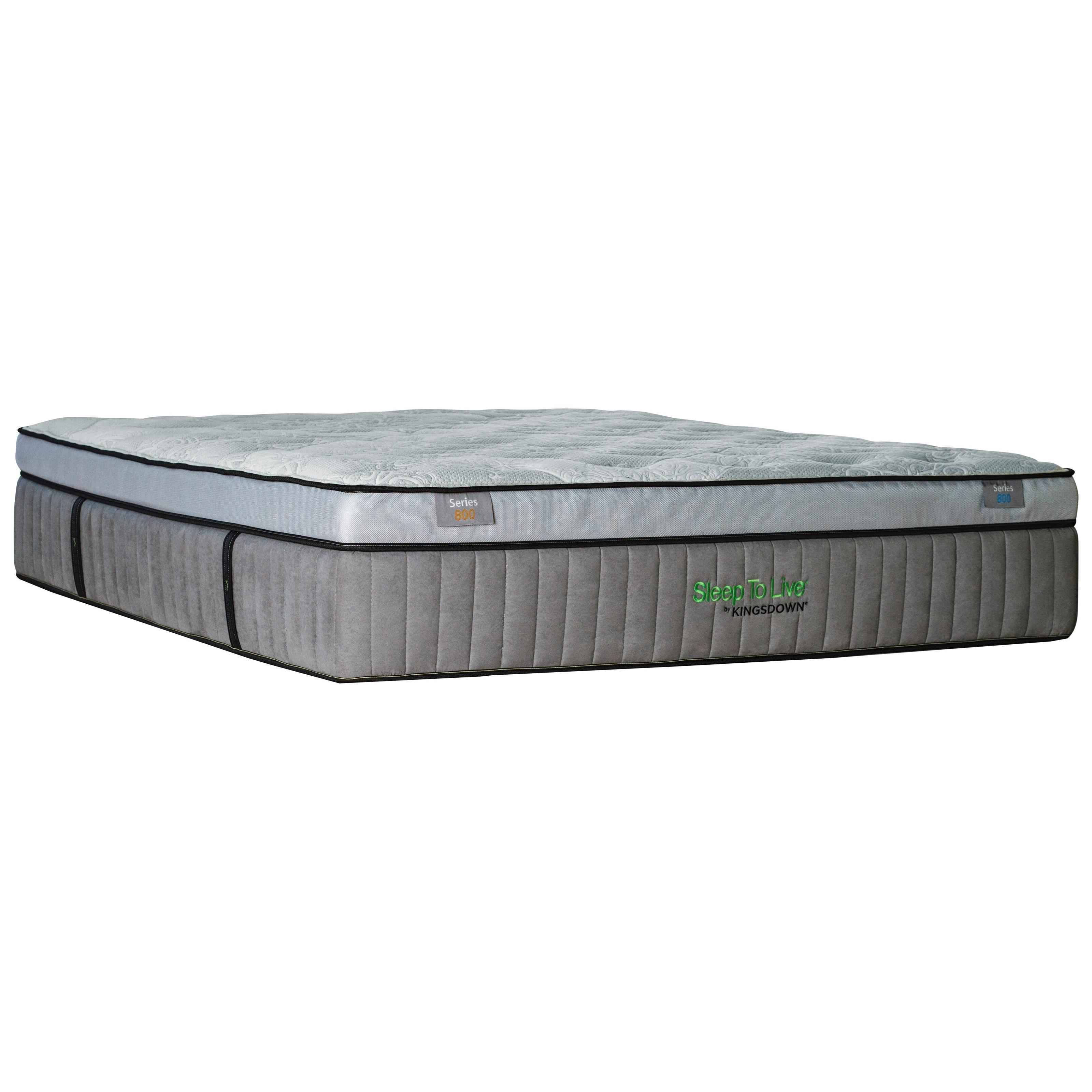 "5254 Green Series 800 Twin XL 16 1/2"" Plush Box Top Mattress by Kingsdown at Goods Furniture"