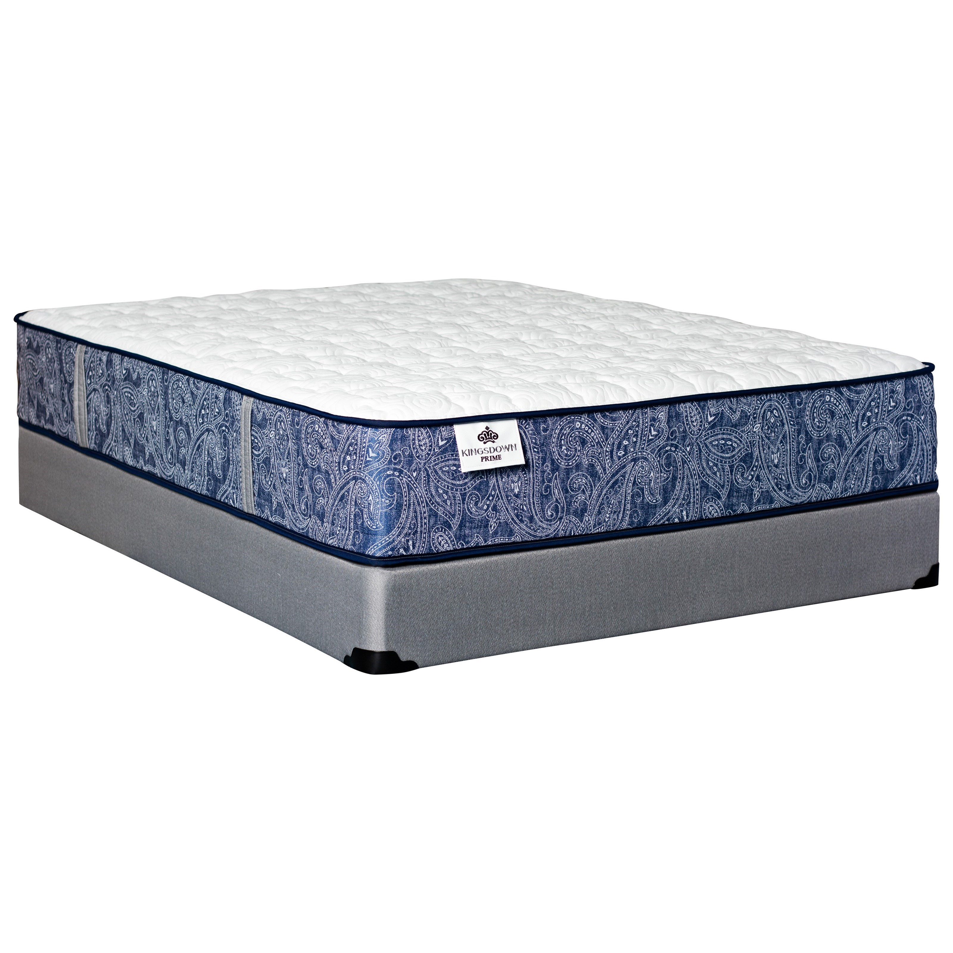 "Merrivale Firm Full 13"" Firm Coil on Coil Mattress Set by Kingsdown at Baer's Furniture"