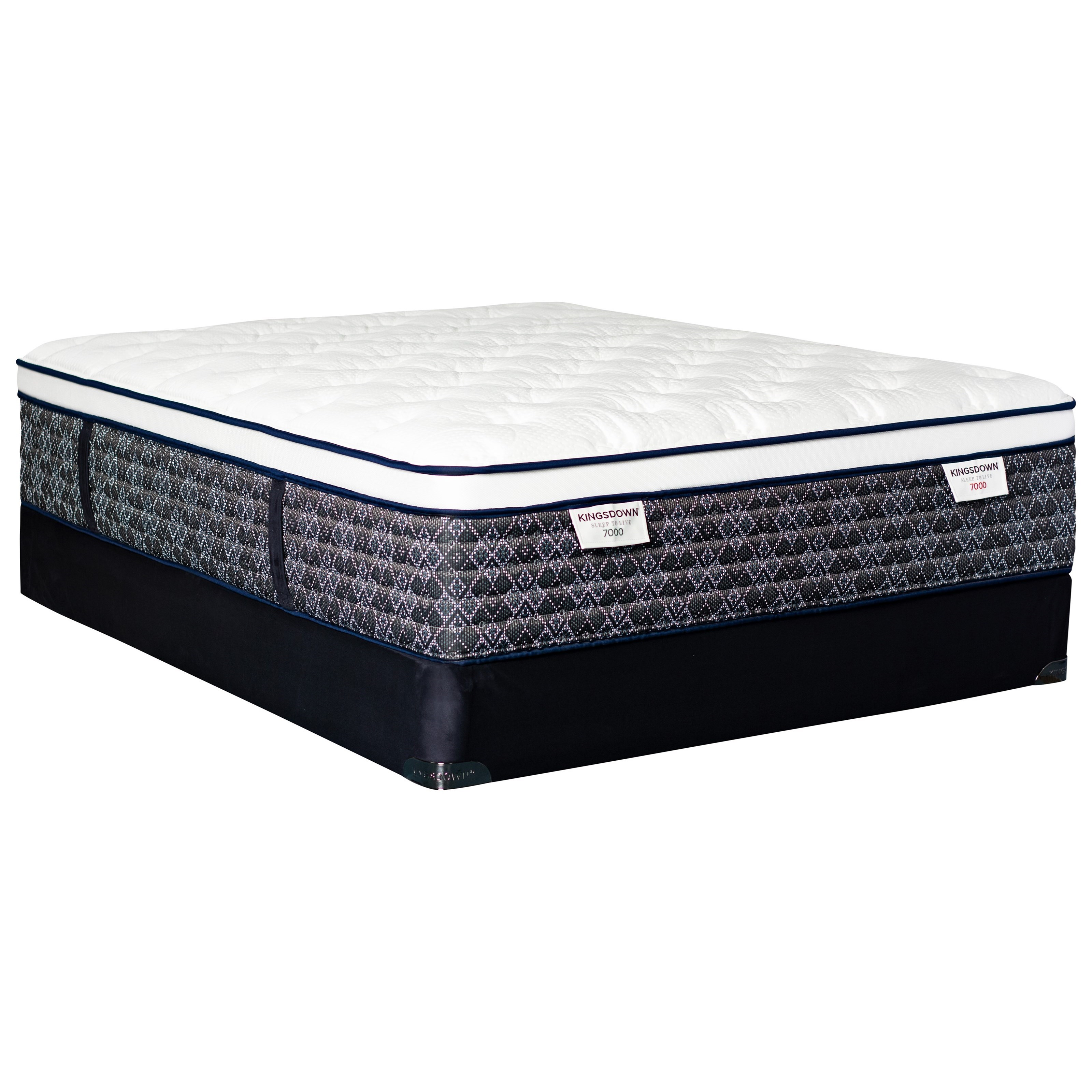 Sleep to Live 9000 Gold Blue ET Queen Pocketed Coil Mattress LoPro Set by Kingsdown at Story & Lee Furniture