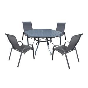 60 Inch Hex Table And Chairs