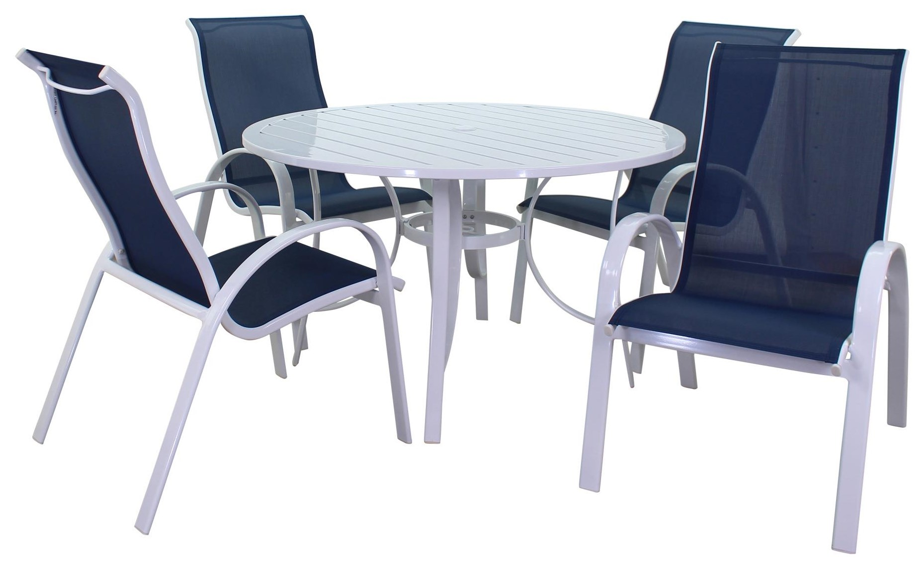 Portside Sling Table and 4 Chairs by Kingston Casual at Johnny Janosik