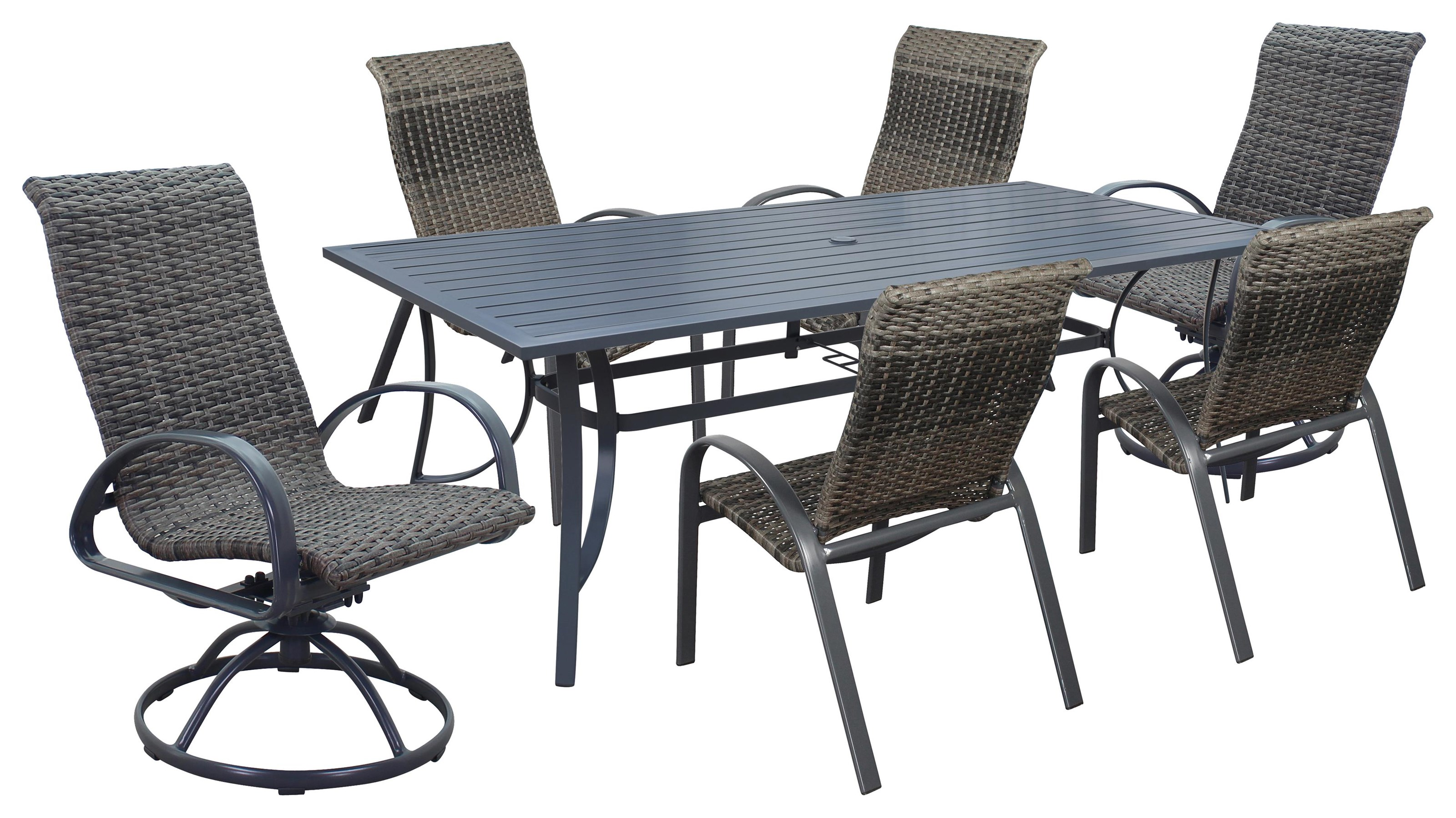Portside Woven Table, Chair, Swivel Chair by Kingston Casual at Johnny Janosik