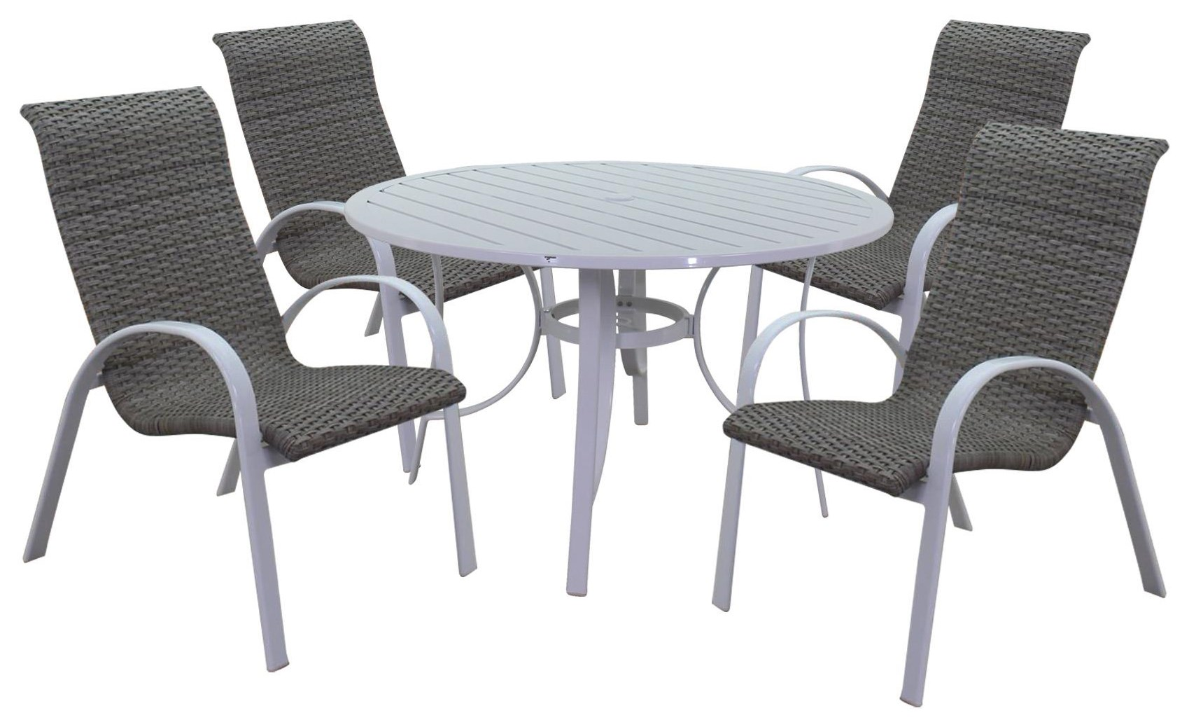 Portside Woven Table and Chair by Kingston Casual at Johnny Janosik
