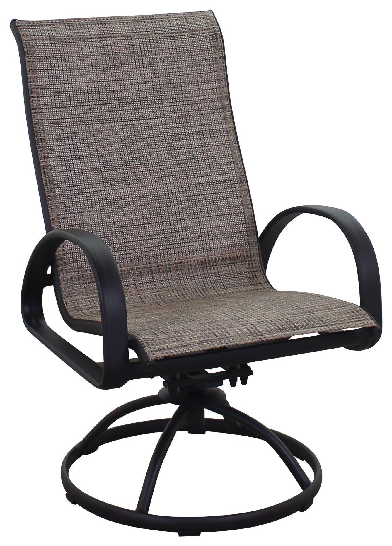 Portside Sling Swivel Chair by Kingston Casual at Johnny Janosik