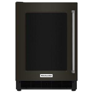 "KitchenAid Beverage Coolers - KitchenAid 24"" Undercounter Left Hand Pull Refrigerator"