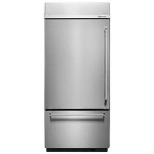 "20.9 Cu. Ft. 36"" Width Built-In Platinum Interior Bottom Mount Refrigerator with Preserva® Food Care System"