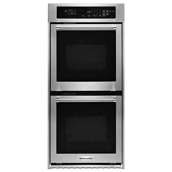 "Built-In Electric Double Ovens 24"" Electric Double Wall Oven  by KitchenAid at Pedigo Furniture"