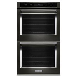 "30"" 5.0 Cu. Ft. True Convection Double Wall Oven with Glass Touch Control Panel"