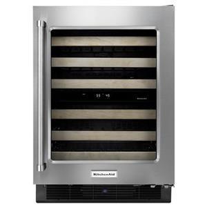 "KitchenAid Compact Refrigeration 24"" Panel Ready Wine Cellar"