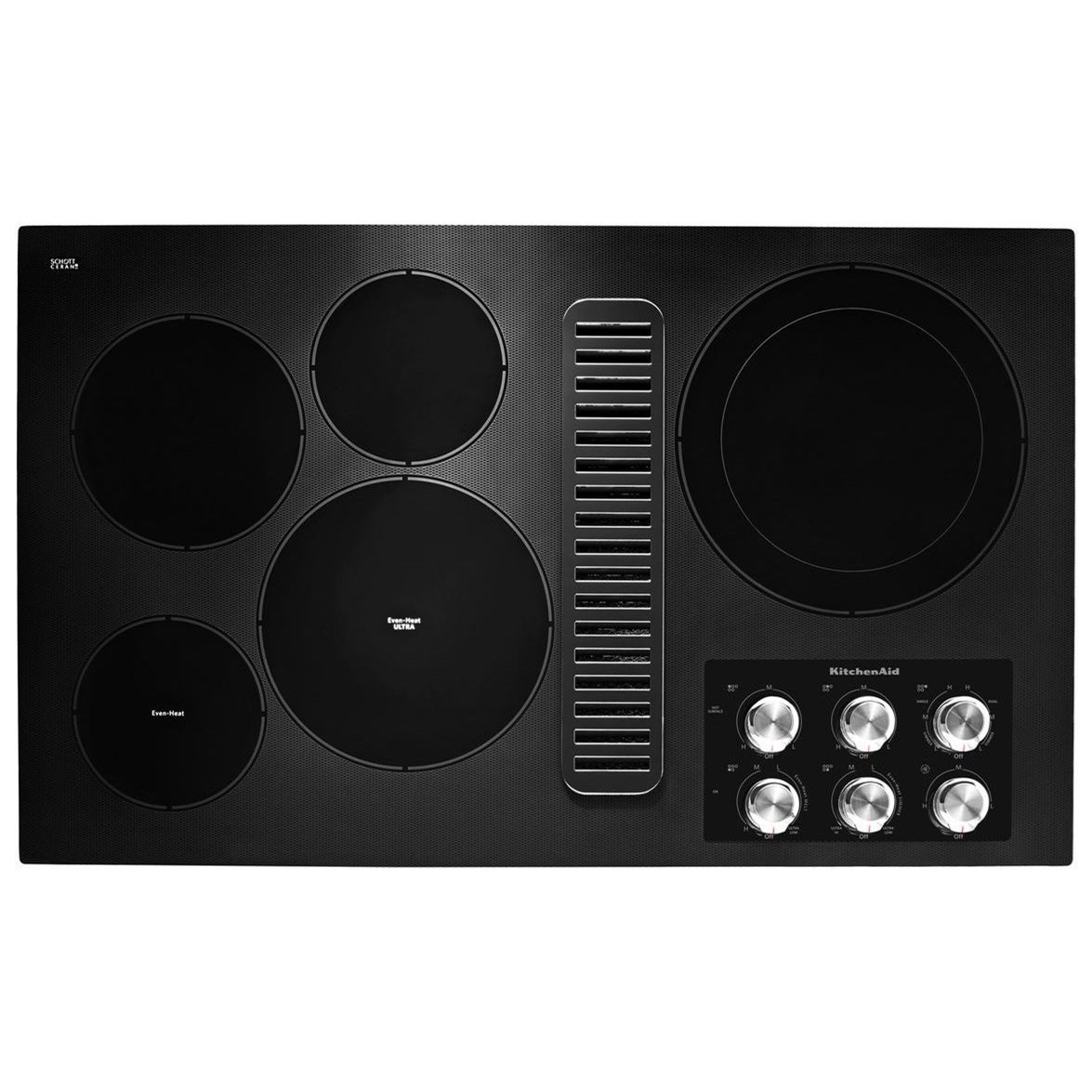 """Electric Cooktops 36"""" Electric Downdraft Cooktop by KitchenAid at Furniture and ApplianceMart"""