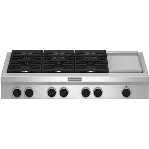 "KitchenAid Gas Cooktops 48"" Built-In Gas Cooktop"