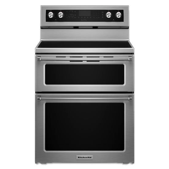 KitchenAid Electric Ranges 30-Inch 5 Burner Electric Double Oven Convec by KitchenAid at Furniture and ApplianceMart