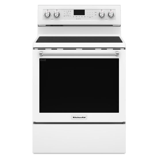 KitchenAid Electric Ranges 30-Inch 5-Element Electric Convection Range by KitchenAid at Furniture and ApplianceMart