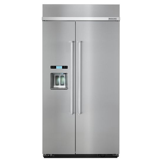 """KitchenAid Side-by-Side Refrigerator 25.0 Cu. Ft. 42"""" Side by Side Refrigerator by KitchenAid at Furniture and ApplianceMart"""