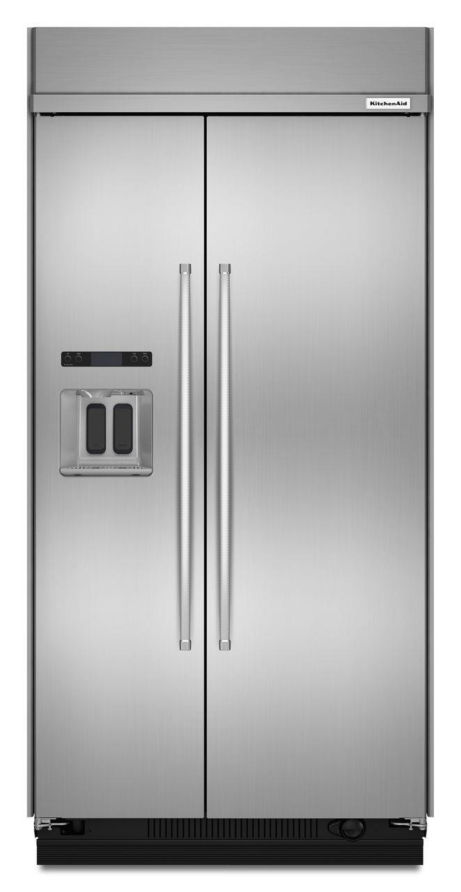 "KitchenAid Side-by-Side Refrigerator 48"" Side-by-Side Refrigerator by KitchenAid at Furniture and ApplianceMart"