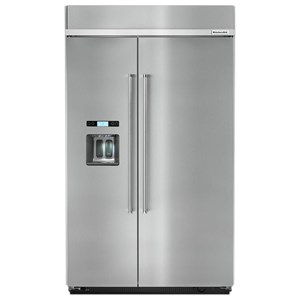 "KitchenAid KitchenAid Side-by-Side Refrigerator 29.5 cu. ft 48"" Built-In Side by Side Fridge"