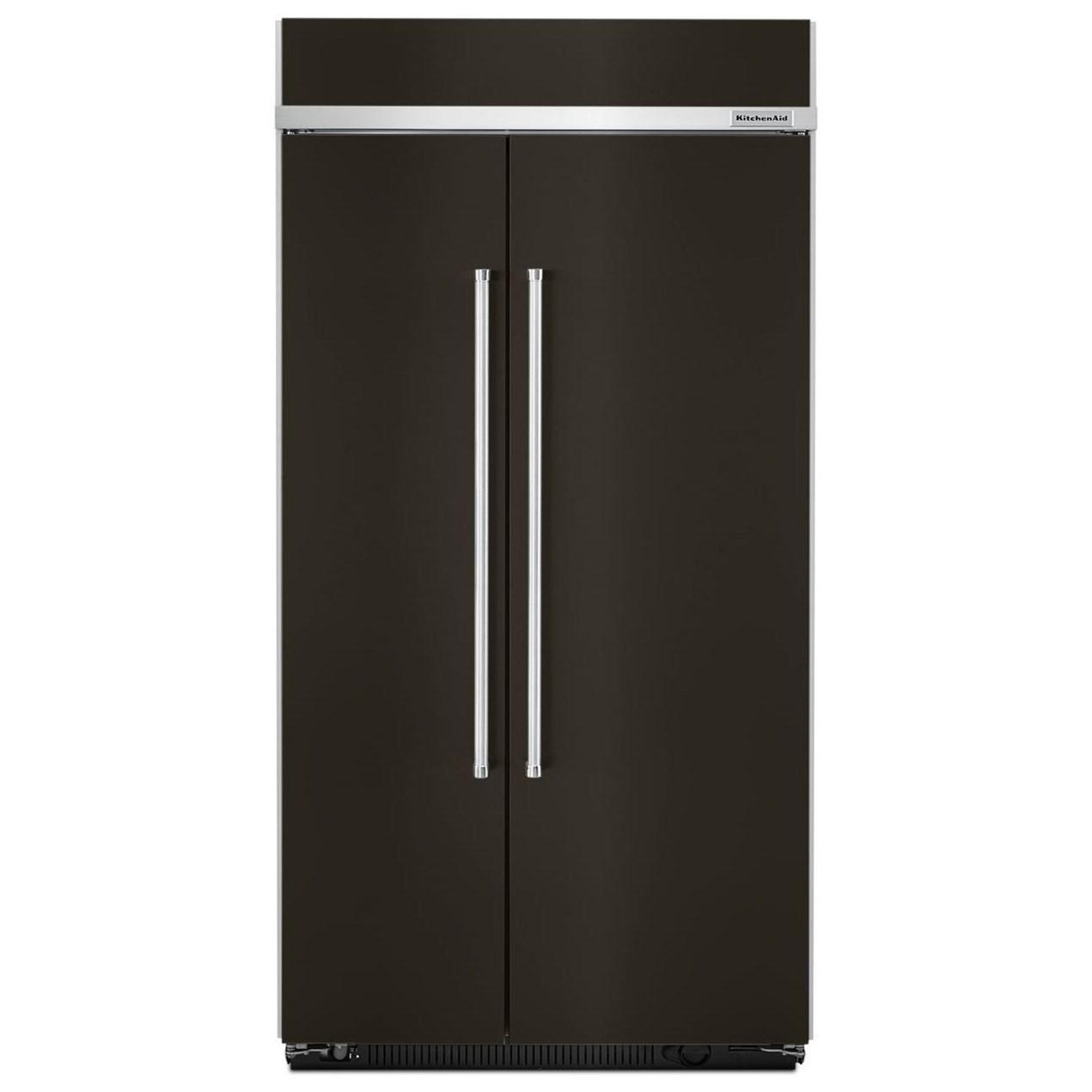 "KitchenAid Side-by-Side Refrigerator 42"" Width Built-In SideXSide Refrigerator by KitchenAid at Pedigo Furniture"