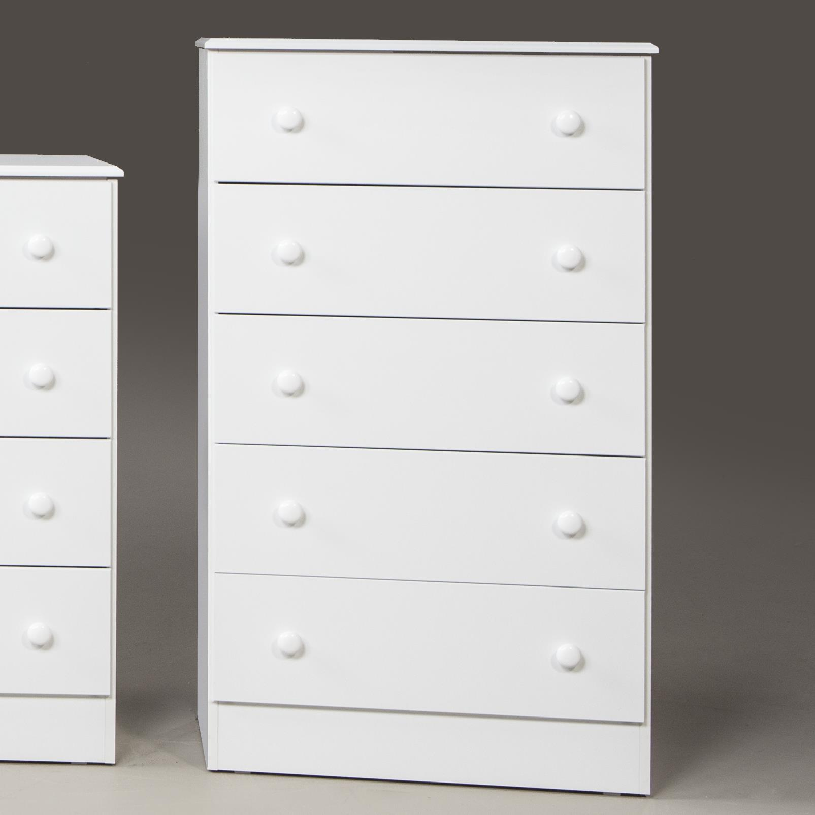 193 White 5 Drawer Chest by Kith Furniture at Wayside Furniture