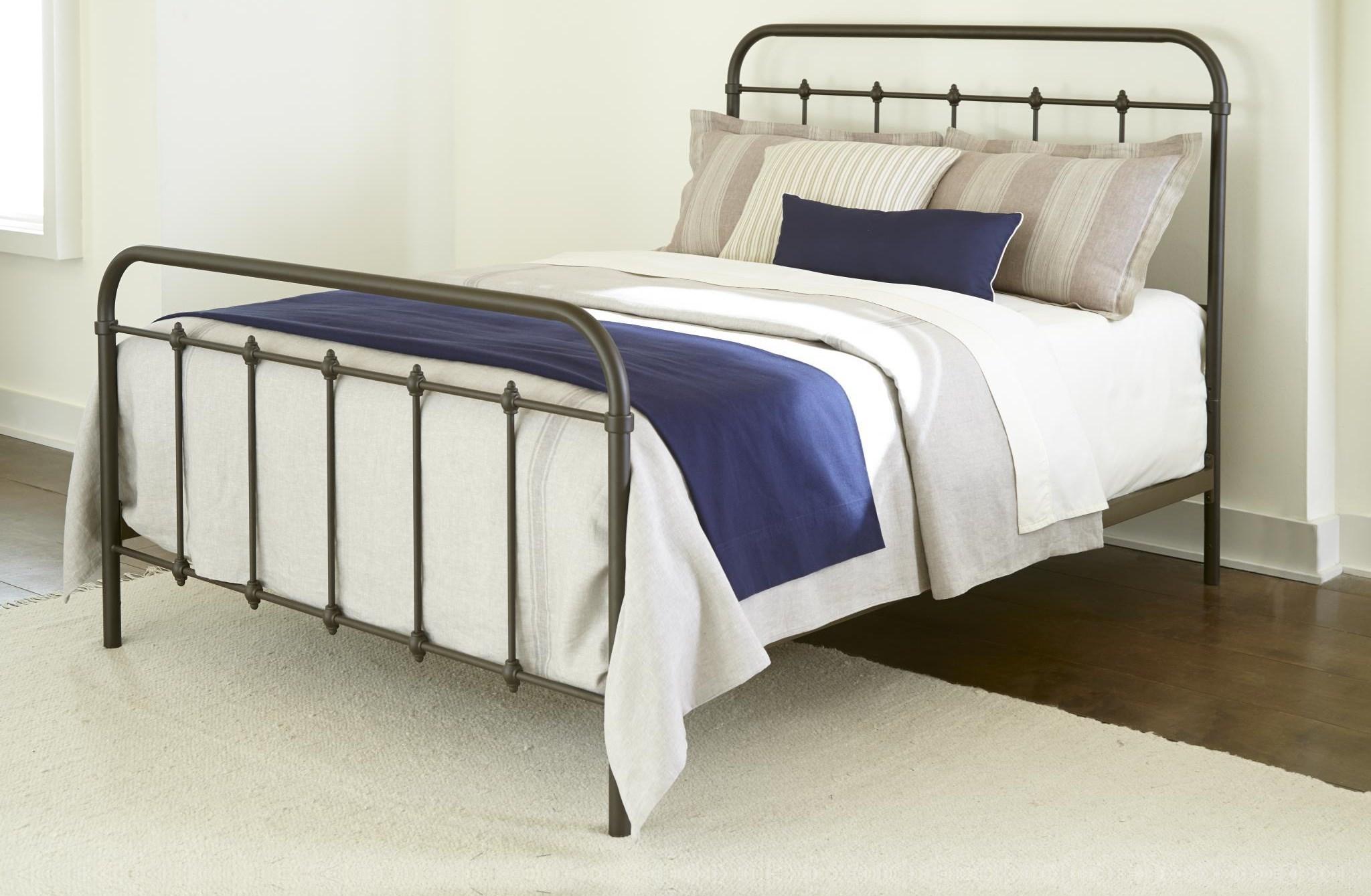 232Grey King Size Metal Bed by Kith Furniture at Furniture Fair - North Carolina