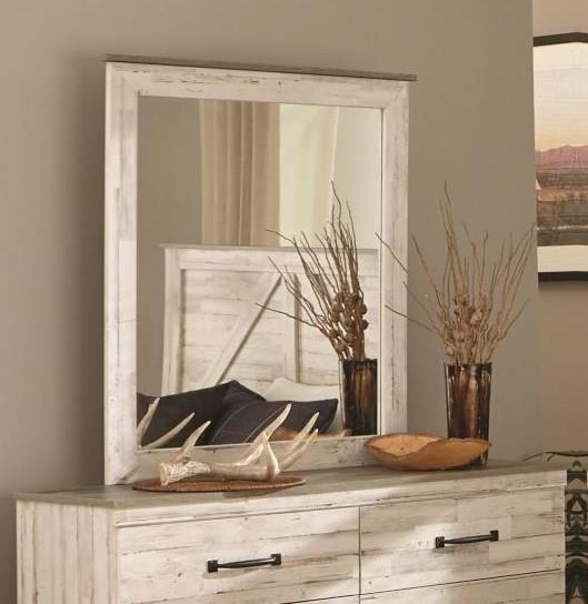 342 ASPEN White-Grey Mirror by Kith Furniture at Furniture Fair - North Carolina