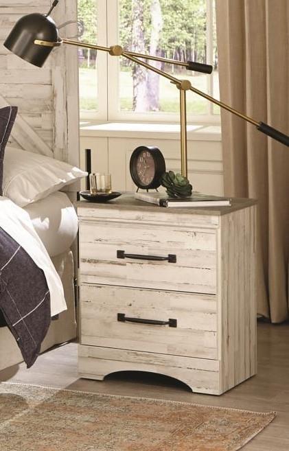 342 ASPEN White-Grey Nightstand by Kith Furniture at Furniture Fair - North Carolina