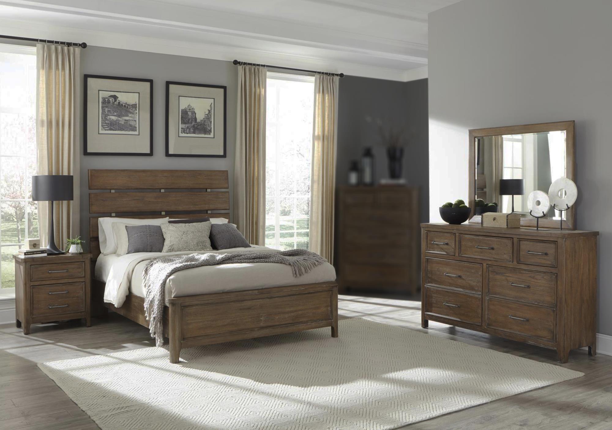 Falls Lodge - Natural 4PC Queen Bedroom Set at Rotmans